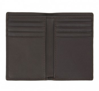 Porte-cartes grand format en cuir marron - ORY