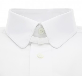 Chemise blanche col anglais arrondi tailored fit
