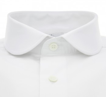 Chemise blanche col rond tailored fit