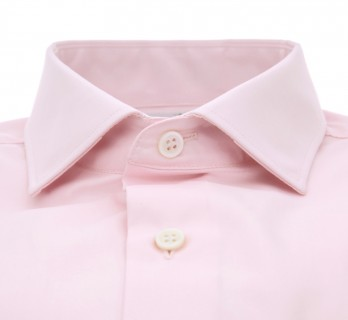 Chemise rose col italien tailored fit