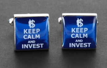 Boutons de manchette Keep Calm and Invest