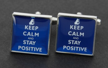 Boutons de manchette Keep Calm and Stay Positive
