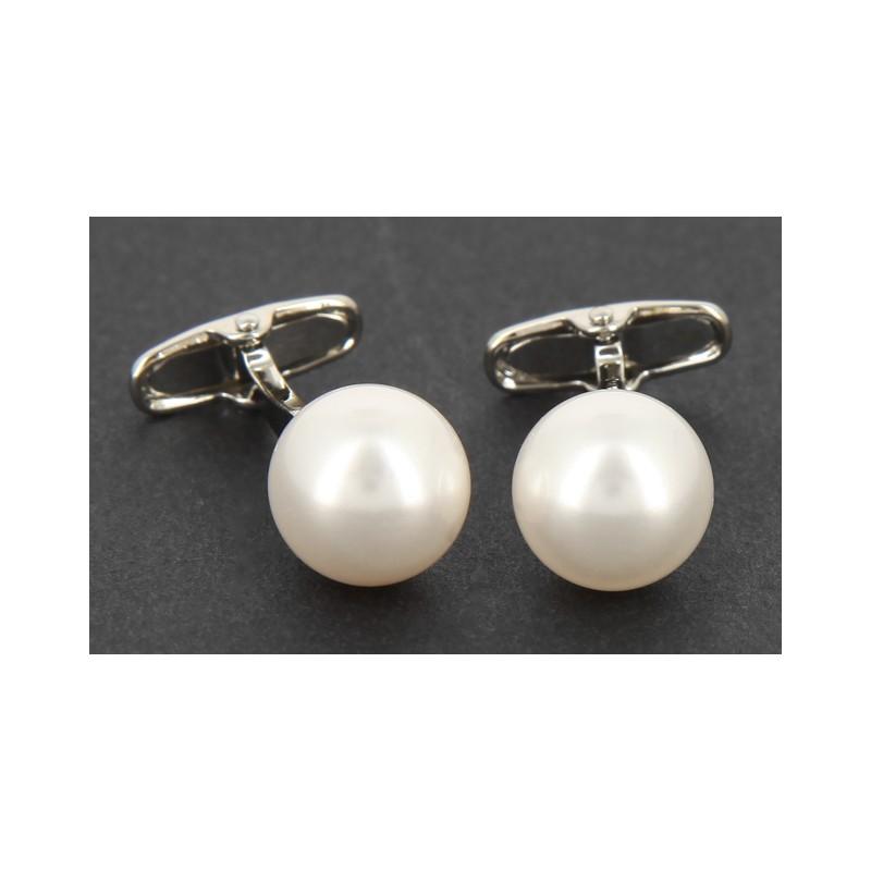 Boutons de manchette perles blanc cassé - Tahiti