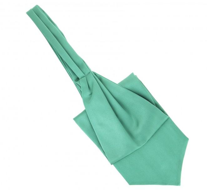 cravate ascot lavalli 232 re de couleur vert d eau maison de la cravate