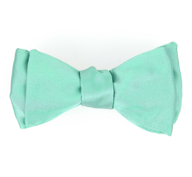 noeud papillon satin vert d 39 eaumonaco ii maison de la cravate. Black Bedroom Furniture Sets. Home Design Ideas
