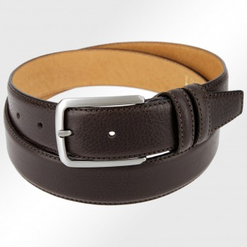 CEINTURE GRAINEE MARRON FONCE THE NINES