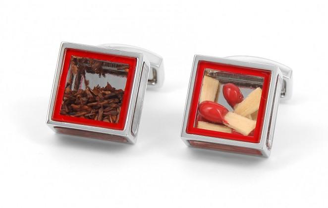 Boutons de manchette Tateossian - Pandora's Box - Tobacco and Matches