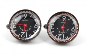 Boutons de manchette Tateossian - Racing Watch gunmetal