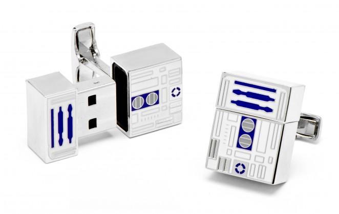 Boutons de manchette Star Wars: Clé USB R2D2