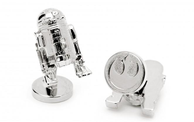 Boutons de manchette Star Wars: R2D2 Palladium