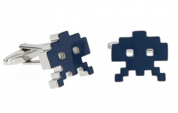 Boutons de manchette Space Invader II