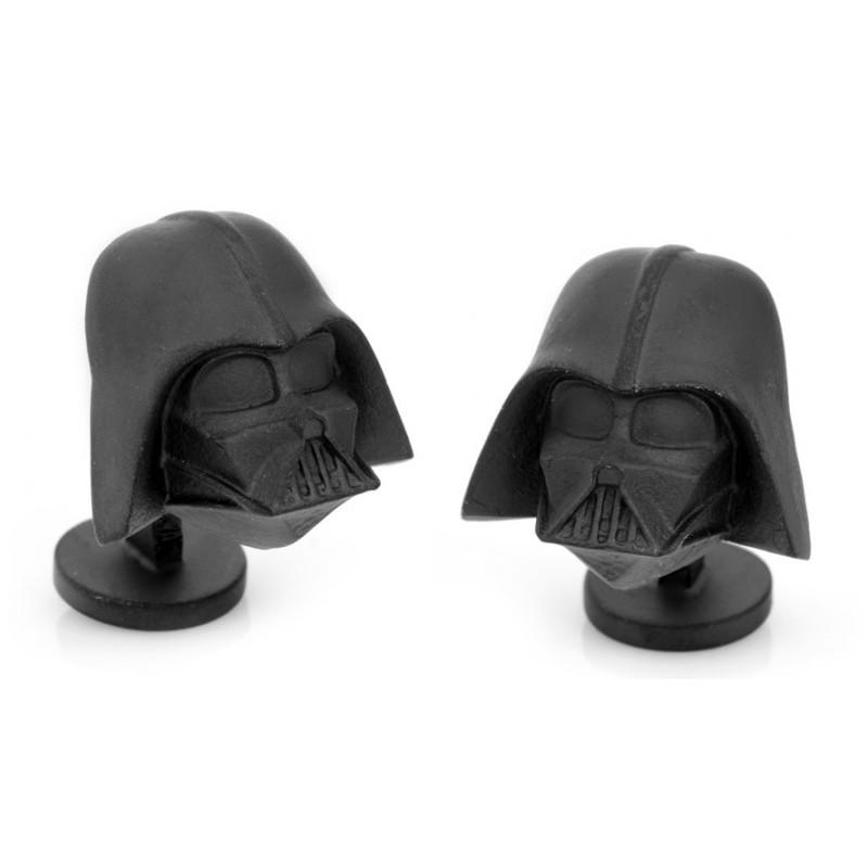 Boutons de manchette Star Wars: Dark Vador noir mat