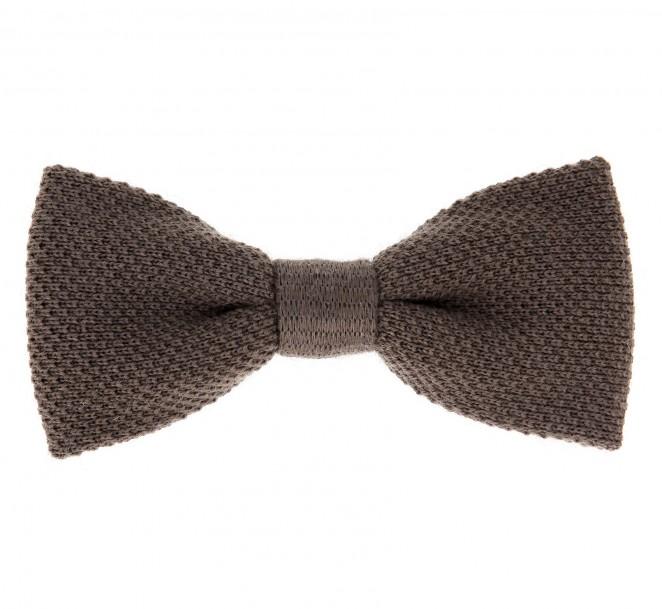 noeud papillon marron tabac en tricot de laine legnano vente cravate maison de la cravate. Black Bedroom Furniture Sets. Home Design Ideas