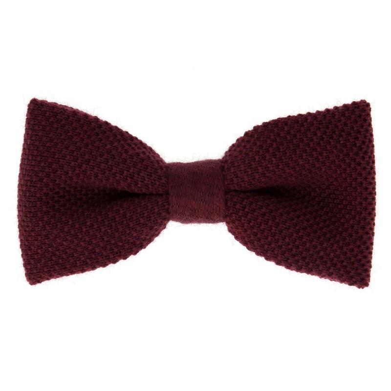 noeud papillon tricot bordeaux legnano vente cravate maison de la cravate. Black Bedroom Furniture Sets. Home Design Ideas