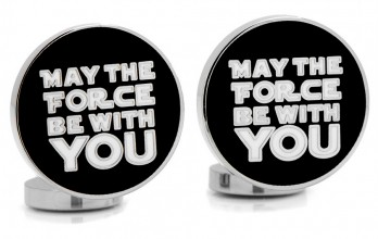 Boutons de manchette Star Wars: May the Force Be With You