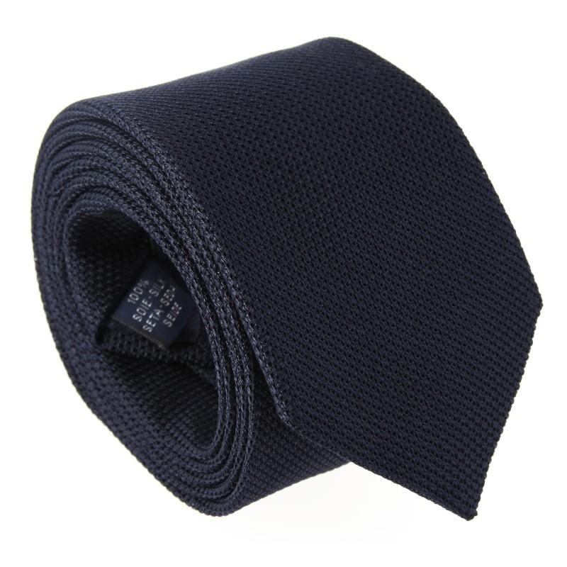 Cravate grenadine de soie The Nines bleu marine - Grenadines IV