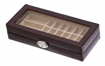 Coffret vitrine casier marron
