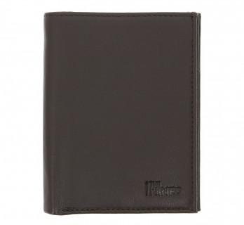 Portefeuille en cuir marron format identité - MIL