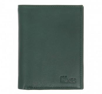 Portefeuille en cuir vert format identité - MIL