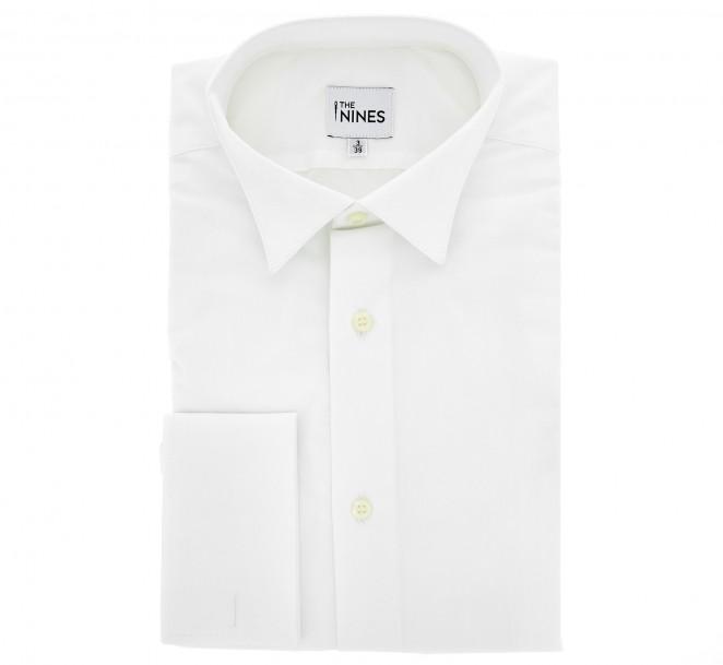 chemise blanche col cass ascot slim fit maison de la chemise. Black Bedroom Furniture Sets. Home Design Ideas