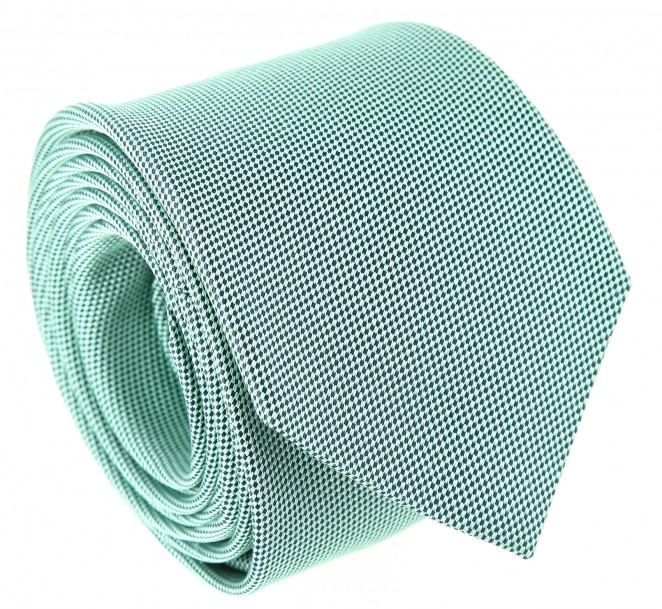 Cravate the nines en soie natt e verte la maison de la - La maison de la cravate ...