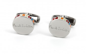 Boutons de manchette Paul Smith - Ronds à rayures multicolores