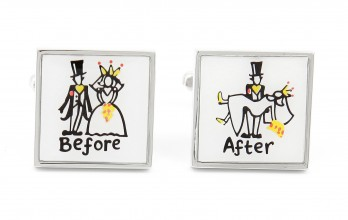 Boutons de manchette mariage Before/After