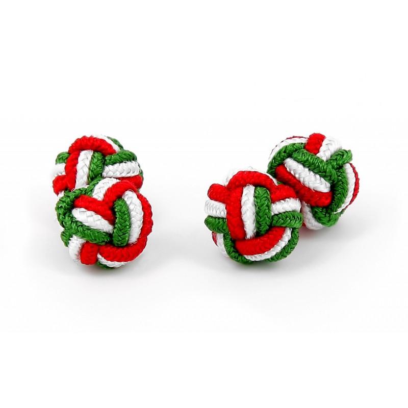 Passementerie tricolore vert blanc et rouge - Bombay
