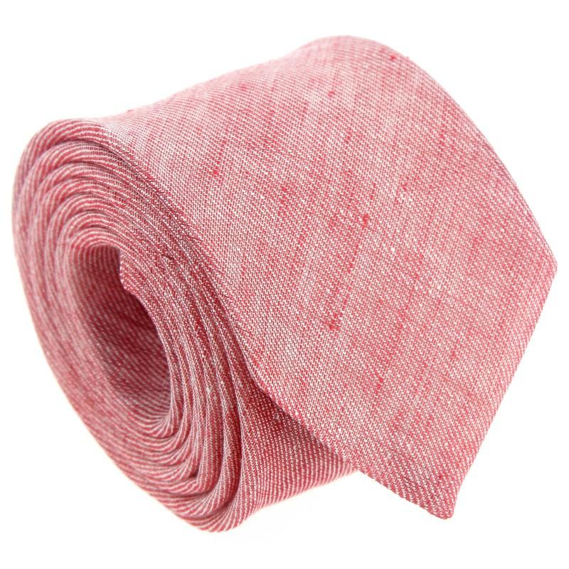 cravate hugo boss rouge chin en lin la maison de la cravate. Black Bedroom Furniture Sets. Home Design Ideas