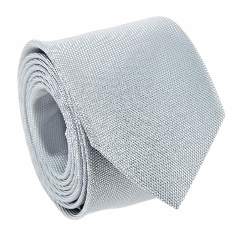 Cravate gris perle en soie nattéee The Nines - Saint Honoré II