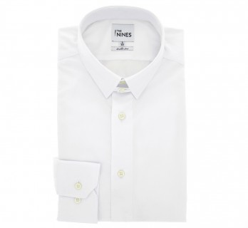 Chemise popeline blanche col anglais coupe regular