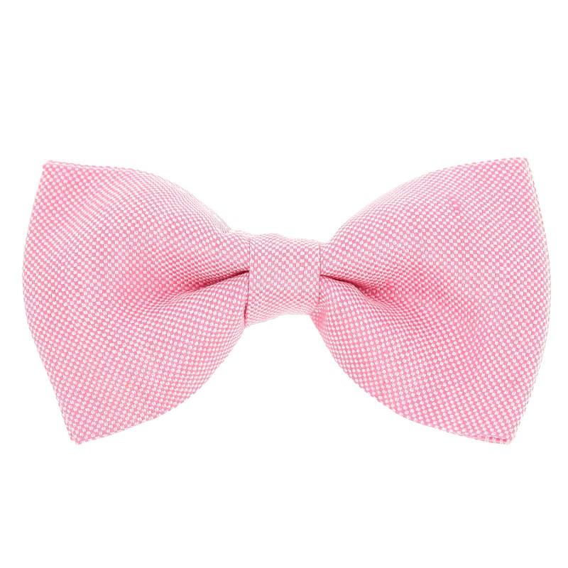 noeud papillon rose pastel en lin et soie natt e parme maison de la cravate. Black Bedroom Furniture Sets. Home Design Ideas