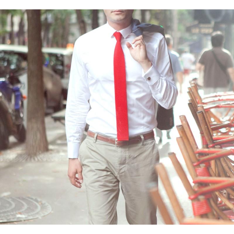 Célèbre Cravate tricot rouge Monza - Vente cravate - Maison de La Cravate FW81