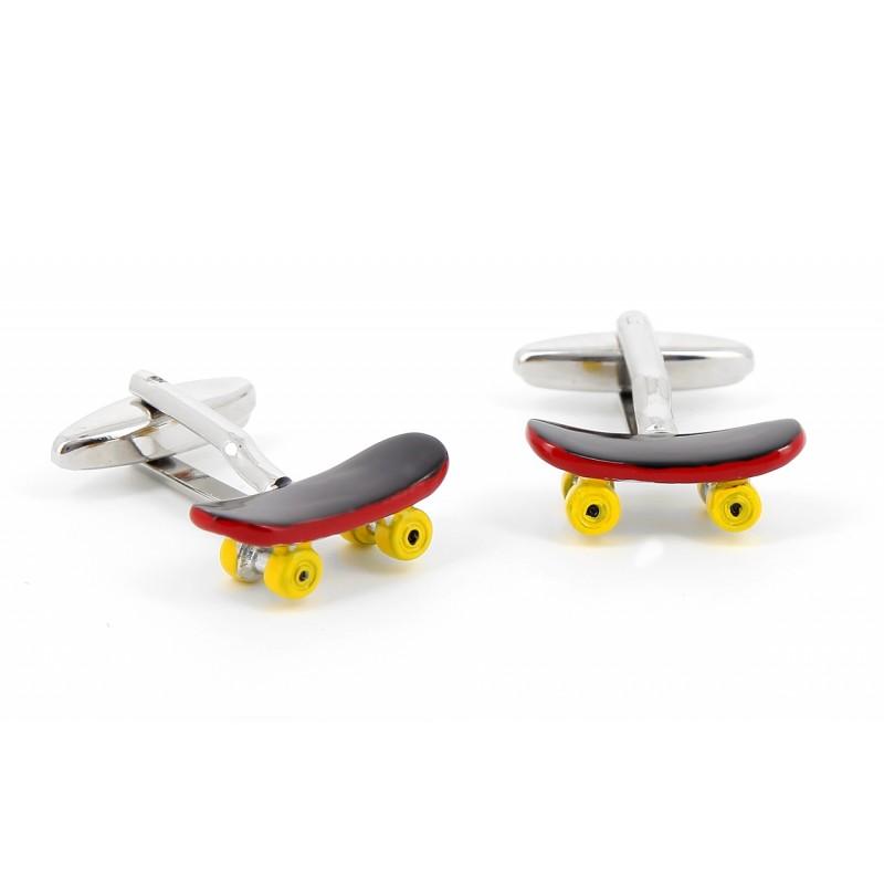 Boutons de manchette skateboard - Heelflip