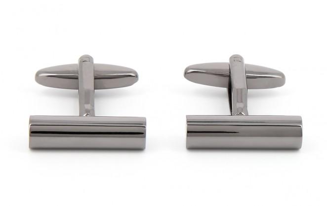 Boutons de manchette cylindriques gunmetal - Éphèse