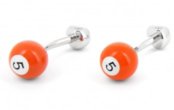 Boutons de manchette boule de billard orange - Blackpool 5