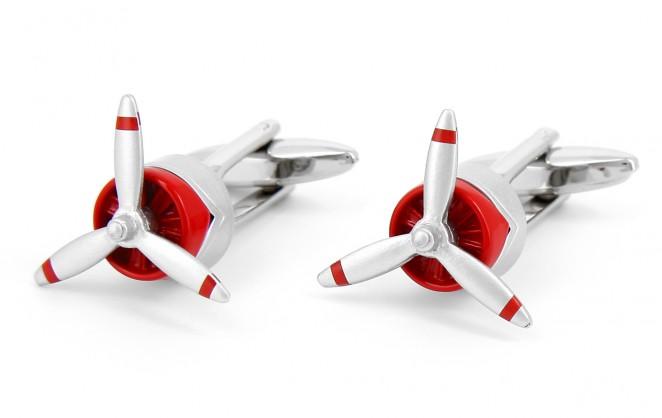 Boutons de manchette hélice d'avion - Aero
