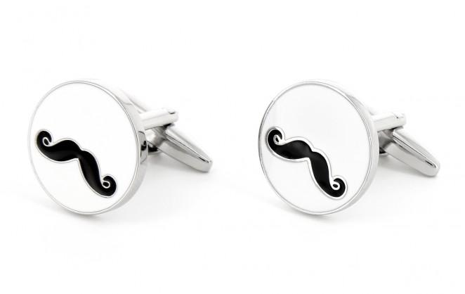 Boutons de manchette moustache - Barbershop