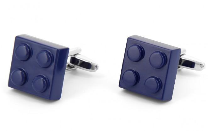 Boutons de manchette brique bleu foncé - Bilund