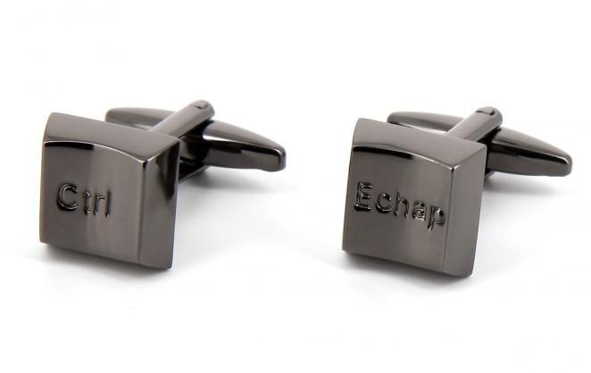 Boutons de manchette ESC/CTR gunmetal - Richmond II