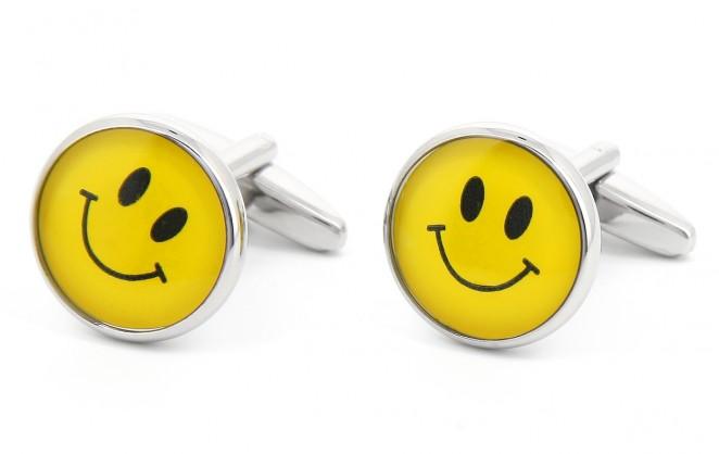 Boutons de manchette Smiley City