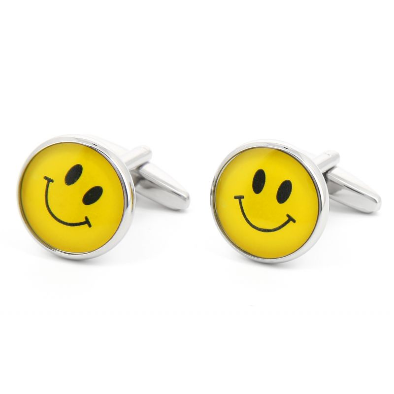 Boutons de manchette Smiley City