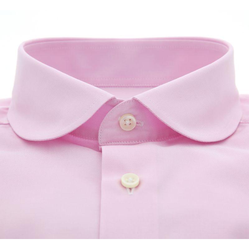 chemise rose col rond slim fit maison de le chemise. Black Bedroom Furniture Sets. Home Design Ideas