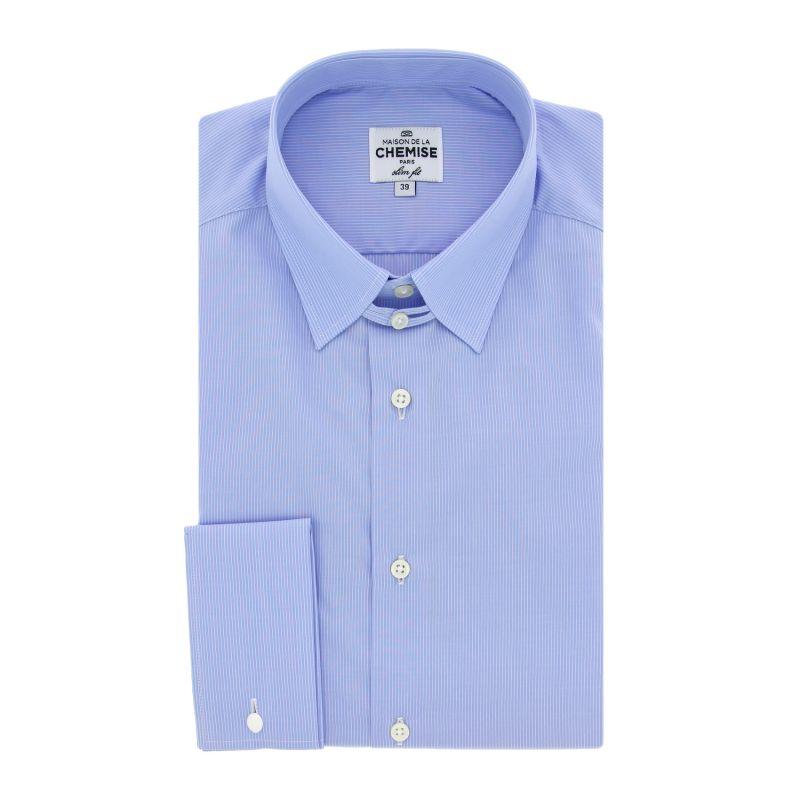 chemise mousquetaire rayures col anglais maison de la chemise. Black Bedroom Furniture Sets. Home Design Ideas
