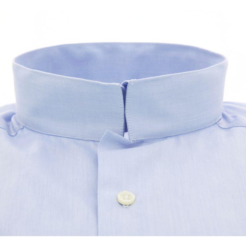 chemise bleue col invers maison de la chemise. Black Bedroom Furniture Sets. Home Design Ideas