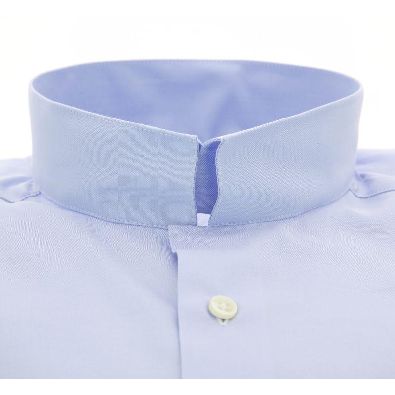 chemise bleue col invers slim fit maison de la chemise. Black Bedroom Furniture Sets. Home Design Ideas