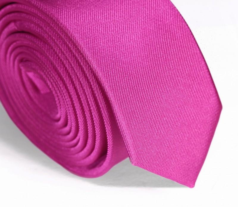 Cravate slim fuchsia - Ravenne