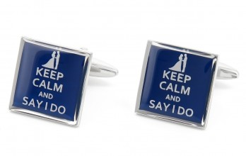 Boutons de manchette Keep Calm and Say I Do