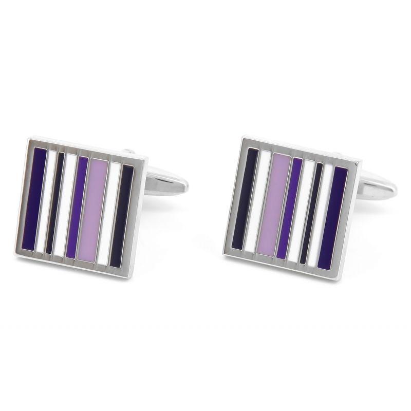 Boutons de manchette carrés violets - Regent's Street