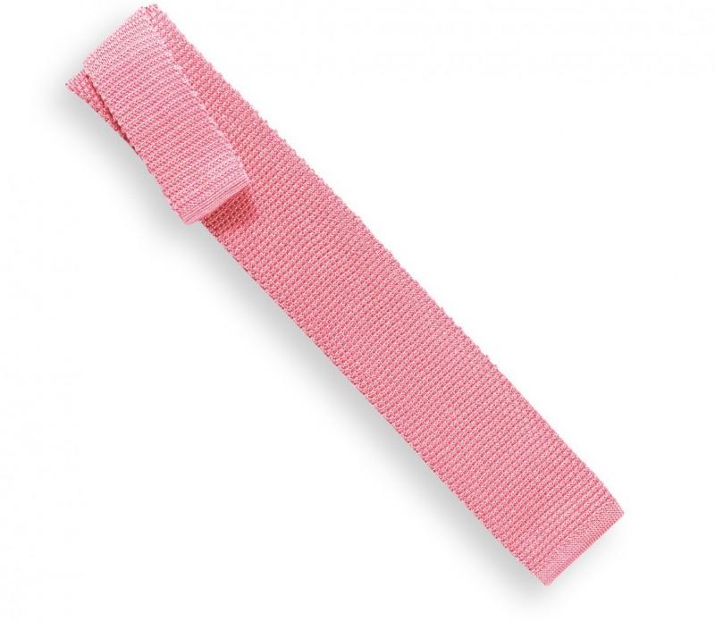 Cravate en tricot rose pastel - Monza